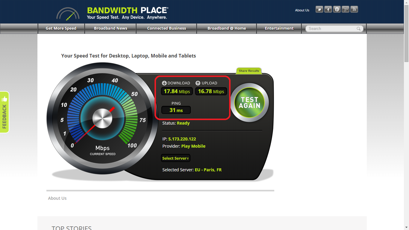 Speedtest 5
